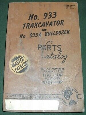 Cat Caterpillar 933 Traxcavator Track Loader Parts Manual Book Sn 11a1-3653