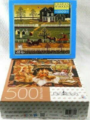 2-Puzzles-Charles Wysocki-The Boccie Ladies & MB Big Ben-Warmth of Autumn