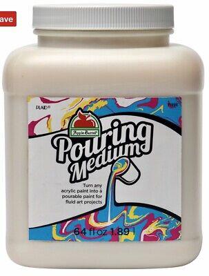 Apple Barrel Acrylic Paint Pouring Medium/Additive 64oz Large Jar New! *SALE*