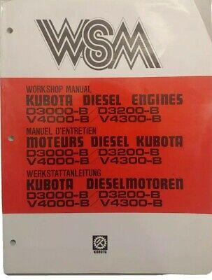 Wsm Kubota Diesel Engine D3000-b D3200-b V4000-b V4300-b Workshop Manual