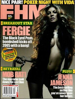 Lot of 2 - FHM - For Him Magazine  - January 2005 & October 2006