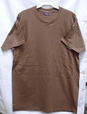 Brown Bdu Shirt (US MILITARY COTTON BROWN T-SHIRT TSHIRT  SIZE LARGE CAMO BDU PANTS)