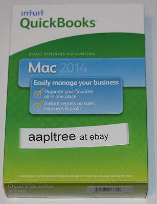 New Intuit Quickbooks 2014 For Mac  1 User  Full Retail Version Sealed