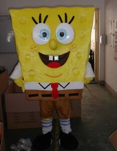 SpongeBob SquarePants cartoon Mascot Costume Fancy party Dress Adult Size