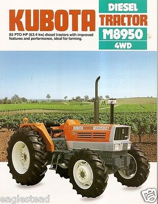Farm Tractor Brochure - Kubota - M8950 - 1986 Fb597