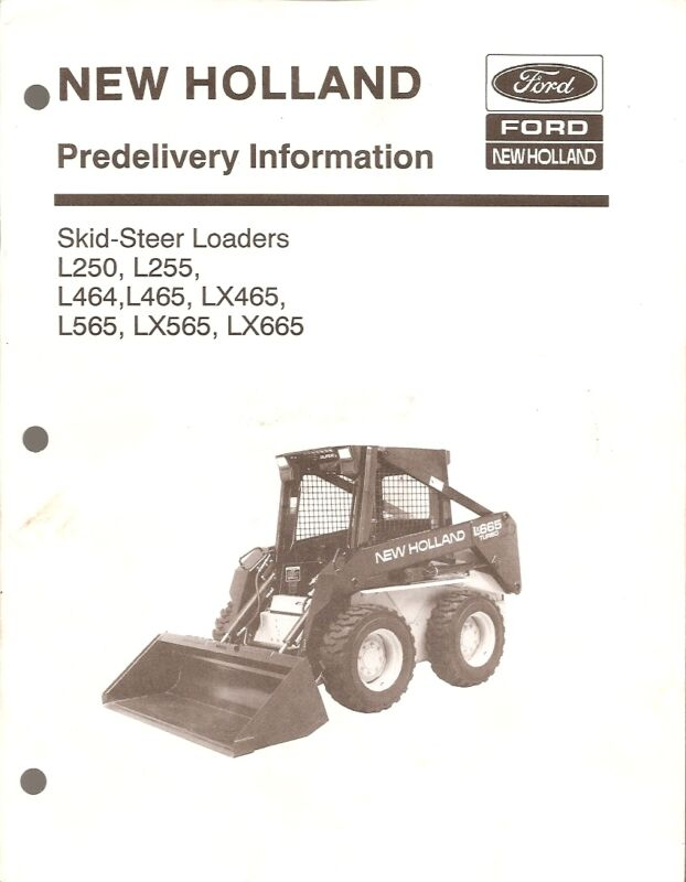 Equipment Manual - New Holland - Pre-Delivery Skid Steer Loader - 1993 (E1337)