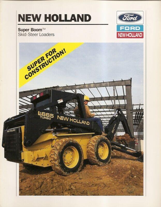 Equipment Brochure - Ford New Holland - Super Boom Skid Steer Loader 94 (E1378)