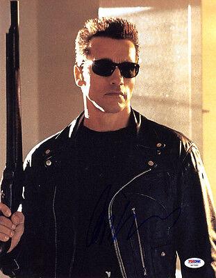 Arnold Schwarzenegger Signed 11X14 Photo The Terminator Psa Dna Autographed