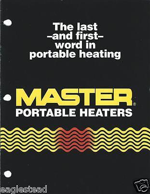 Equipment Brochure - Master - Portable Construction Farm Heaters -1990 E2117