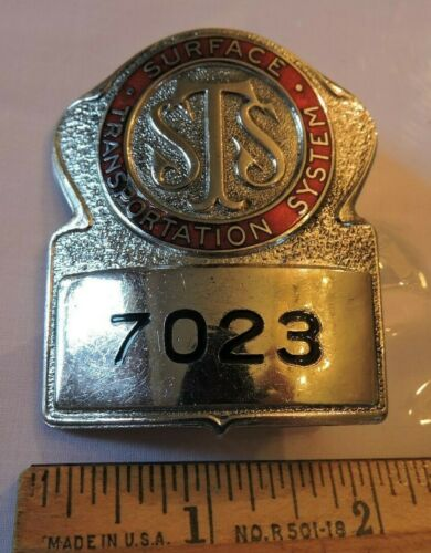 Vintage Surface Transportation System New York City NYC Trolley Operator? Badge
