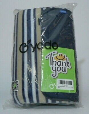 Yodo Picnic Blanket Rug Waterproof Roll up Navy Stripe EcoFriendly Thank you NEW - Roll Up Picnic Blanket