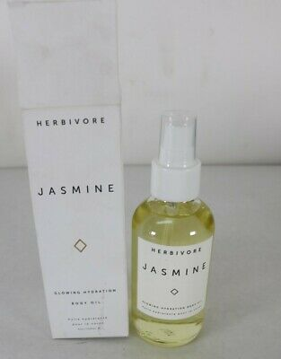 Herbivore Jasmine Glowing Hydration Body Oil, 4 Oz Full Size New Free Shipping