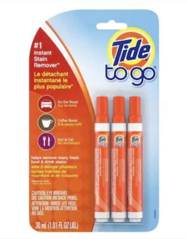 Brand New Tide To Go Instant Stain Remover 3 Pen Pack - Prompt Shipping!