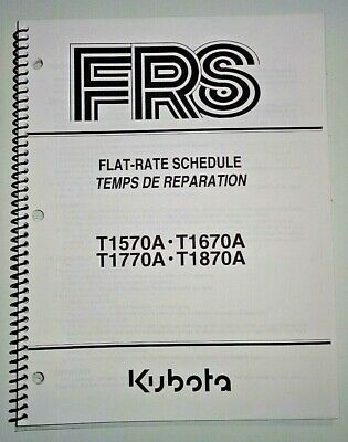 Kubota T1570a T1670a T1770a T1870a Lawn Garden Tractor Flat Rate Manual Oem 904