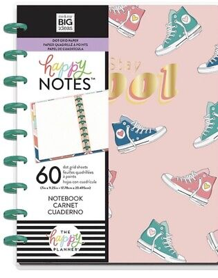The Happy Planner Classic Stay Cool Notes 60 Dot Grid Sheets 3 Dividers Sneakers