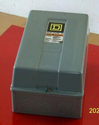 8502 Sdg2 Square D Size 2 Contactor W120 Volt Coil Nema 1 Enclosure