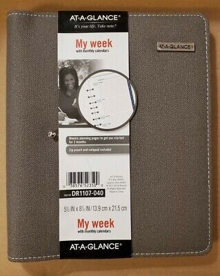 At-a-glance My Week With Monthly Calendars Dr1107-040