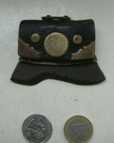 Antique Asian CHUCK MUCK Chinese Japanese FIRE STEEL Tinder Pouch