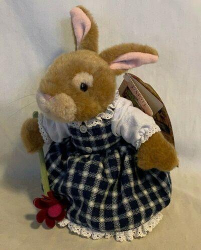 "VINTAGE NWT Holly Pond Hill Dakin Plush Bunny Rabbit Susan Wheeler - HANNAH 8"""