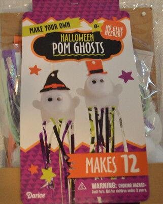 Kid's Halloween Haunting Pom Ghost Make Your Own Craft Kit - Kid Halloween Craft
