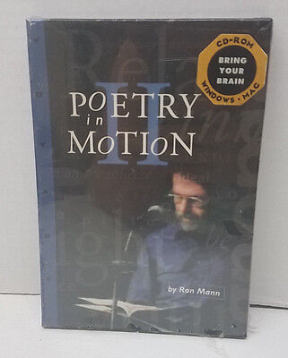 New Sealed Poetry In Motion II CD Rom Ron Mann Windows Mac Reading Video