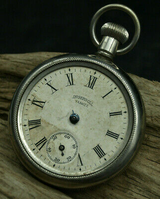 EARLY INGERSOLL YANKEE POCKET WATCH FOR PARTS OR REPAIR (D3)