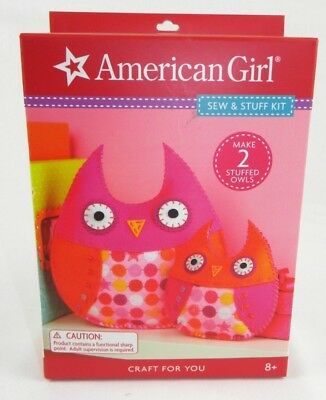 Owl Stuff For Girls (American Girl Sew & Stuff Kit Craft For You Make 2 Stuffed Owls Brand New in)