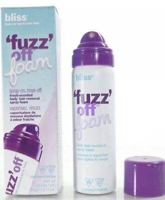 Bliss Fuzz Off Foam Body Hair Removal 2oz Rinse Off Fresh Scent Lot Of 2