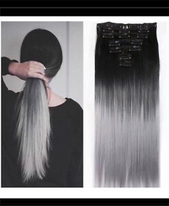 "Human Hair / Synthetic 24"" ombre extensions NEW"