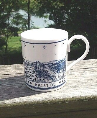 Bristol Coffee Cup Mug Mclaggan Smith Prints Tea Coco White Blue