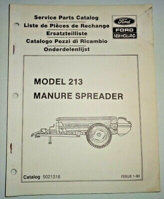 New Holland 213 Manure Spreader Parts Catalog Manual Book Nh Oem
