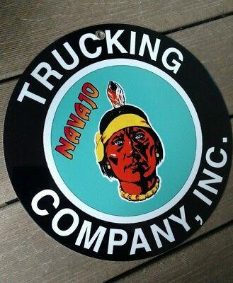 Navajo Trucking Company Co. sign