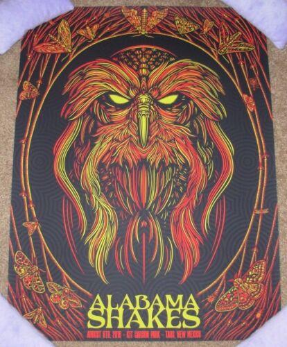 ALABAMA SHAKES concert gig poster TAOS 8-6-16 2016 Tour Todd Slater