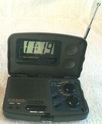 Casio TR-101 AM/FM Radio Traveling Alarm Clock Built In Speaker & Snooze Light