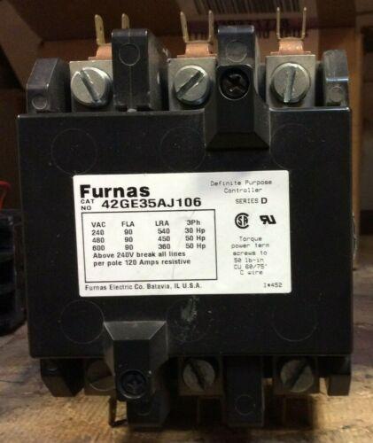 FURNAS 3PH CONTACTOR 42GE35AJ106 SER D 24V COIL 120A A AMP 50HP