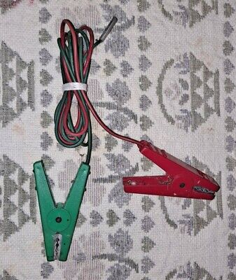 Used Fencer Charger Fencer Lead Set Cables One Long Green And One Short Red