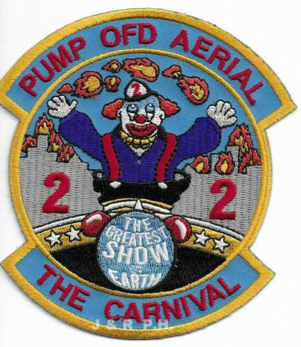 """Ottawa  Station - 22, Canada  """"The Carnival"""" (4"""" x 4.5"""" size) fire patch"""