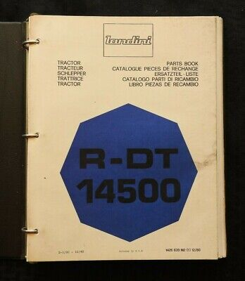 Genuine Landini R-dt 1450 Tractor Parts Catalog Manual Wbinder Very Good Shape