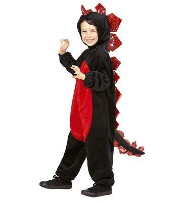 Kostüm Schwarzer Drache aus Plüsch Gr. 104 Karneval Fasching Neu