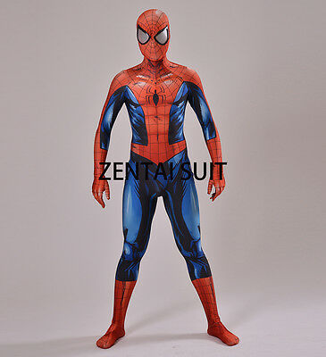 Marvel Spiderman Costume Adult/Kids 3D Halloween Cosplay Superhero Zentai Suit