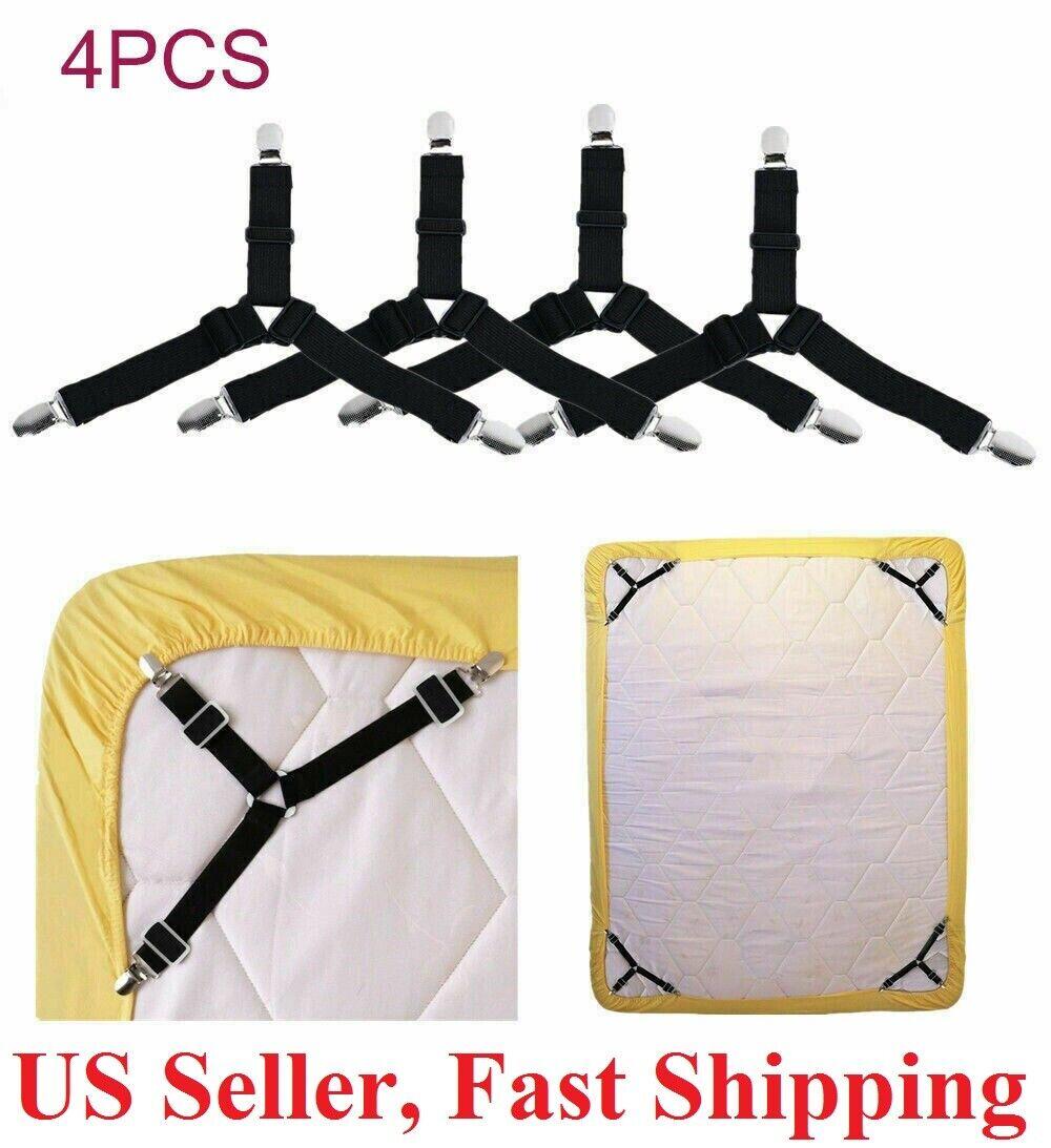 4pcs Bed Suspender Straps Mattress Fastener Holder Triangle