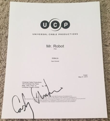 CARLY CHAIKIN SIGNED AUTOGRAPH FULL 64 PAGE MR. ROBOT PILOT SCRIPT w/PROOF