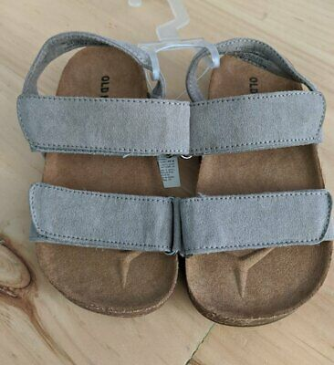 Old Navy Toddler Boys (Boys Old Navy Toddler Gray Faux Suede Double Strap Sandals Size 8)