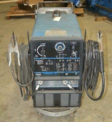 Miller Trailblazer 251 P220 Onan Gas Engine Welder With Arc Leads On Cart