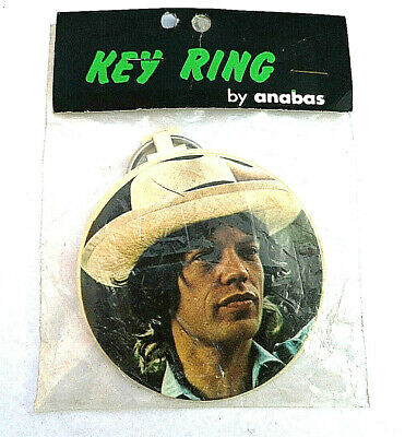 Rare Vintage Anabas MICK JAGGER Rolling Stones Key Ring 70's New Old Stock