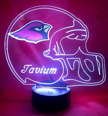 Arizona Cardinals Led (Arizona Cardinals NFL Football Light Up Lamp LED With Remote Personalized Free)