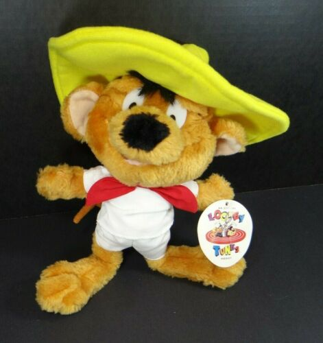 """Looney Tunes Speedy Gonzales Plush Mouse 10"""" Ace Novelty Vintage 1997 NWT"""