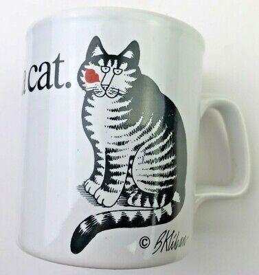 Kliban Mug Love a cat. Kiss on cheek Kiln Craft Tableware England