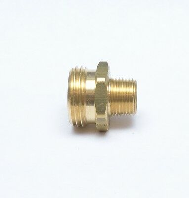 """3/8"""" Male NPT Pipe to 3/4"""" Male Garden Hose GH Thread Adapte"""