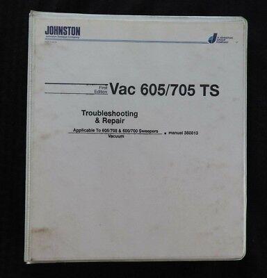 Johnston Vac 600 605 700 705 Ts Street Sweeper Broom Repair Manual Set Wbinders